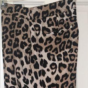 BR Leopard Print High-rise Wide-leg Pant